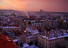 Prague Sunset (Charlotte Brett Photography) Tags: city sunset skyline europe rooftops czech prague