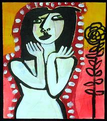 eve's garden (t.marie nolan) Tags: art painting paint artist acrylic raw folkart outsiderart folk outsider originalart nolan painter artbrut recycle naive brut selftaughtartist tmarie tmarienolan