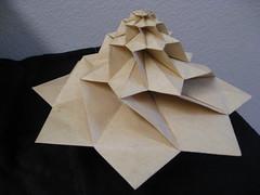 IMG_7750 - Chris Palmer Flower Tower Levitating (tend2it) Tags: geometric toy cool origami geek geometry levitation revolution magnetic chrispalmer levitron flowertower tesellations tesselllation