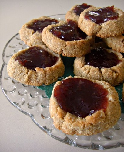 Scandanavian thumbprint cookies