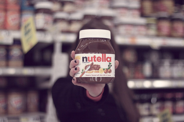 A spoonful of nutella helps the nutella go down