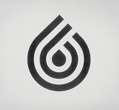 Retro Corporate Logo Goodness_00048 (Barkow Petroleum) (jordan_lloyd) Tags: blackandwhite water vintage logo 60s icons drop retro 80s 70s droplet teardrop 1970s 1980s liquid logos branding iconography trademarks logotypes