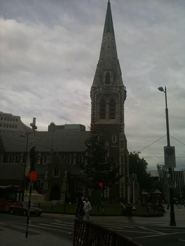 2カ月ぶりに見たクライストチャーチの大聖堂