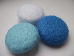 Felt Covered Buttons (charmaine*) Tags: blue white project handmade buttons blues craft felt covered button etsy paleblue needlecraft woolfelt coveredbutton e17craft