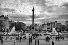 Trafalgar Square (micromax) Tags: city england london westminster strand community unitedkingdom squares famous political central lion trafalgarsquare statues tourist victory british wars naval demonstrations charingcross whitehall nelsonscolumn attraction gatherings napoleonic battleoftrafalgar georgeledwelltaylor kingwilliamthefourthssquare