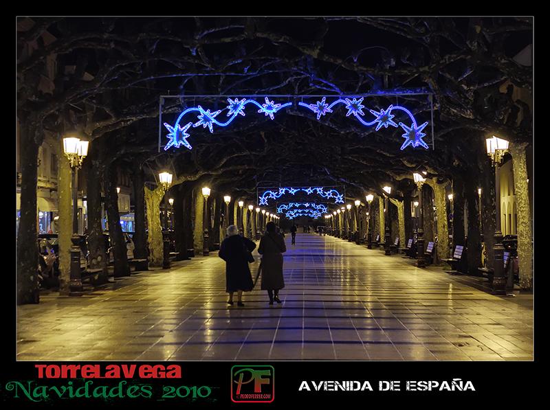 Torrelavega - Avenida España  - Navidades 2010