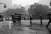 Storm Hour (Airicsson) Tags: street new york city nyc summer urban blackandwhite bw usa white ny storm black rain weather umbrella island lumix us walk manhattan extreme panasonic rainy 2010 streetshot lx3