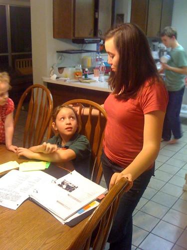 Posy helps Tessa with homework