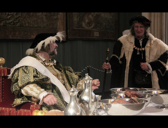 Henry VIII is dining
