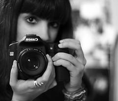 New year, new toy. (Kris *) Tags: she camera new portrait woman selfportrait me girl canon toy mujer chica retrato year yo autoretrato january ella enero año nuevo juguete cámara 2011 50d xkrysx