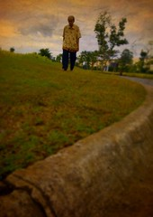 Walking together with cloud on my side #iphonesia #iphoneography (acidjkt) Tags: street man clouds walking indonesia candid serpong iphone iphoneography