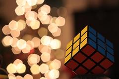 Rubik's Cube bokeh