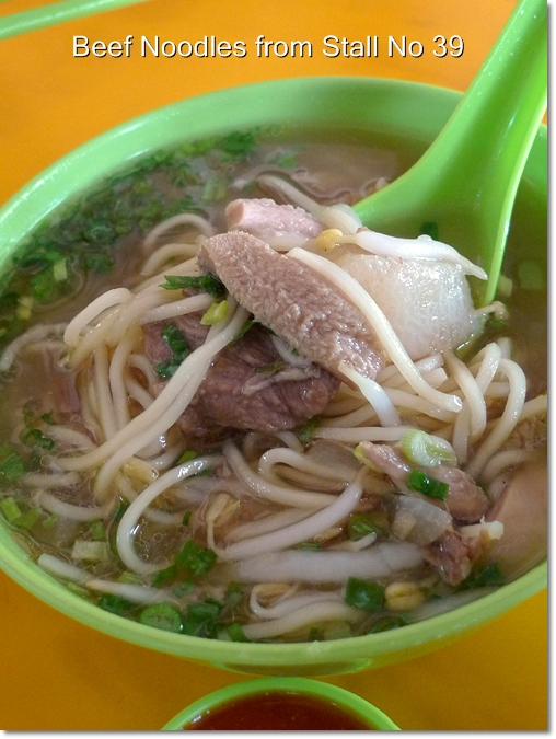 Beef Noodles Stall 39