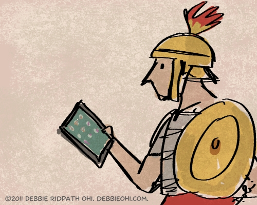 Daily Doodle: Gladiator with an iPad