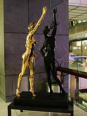 Dali Duo (agent j loves nyc) Tags: newyorkcity sculpture art exhibit dali salvadordali columbuscircle timewarnercenter visionofgenius