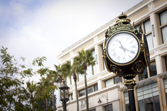 The Americana Clock in Glendale