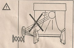 IKEA Mirror Warning (A.Currell) Tags: ikea warning fire mirror drawing instructions instruction