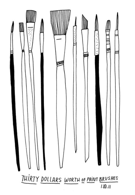 01.10.11 / a bunch of paint brushes