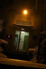 4021 (Mylar Bono) Tags: street city winter snow ice yellow night lights dc washington nikon nw northwest d dcist snowing lamps 5000 gloverpark d5000