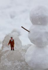 Klaatu barada snowshoe? (JKLsemi) Tags: snow ice snowman year2 aroundthehouse project365 minisnowman project365166 themetheiceattheendofthedriveway
