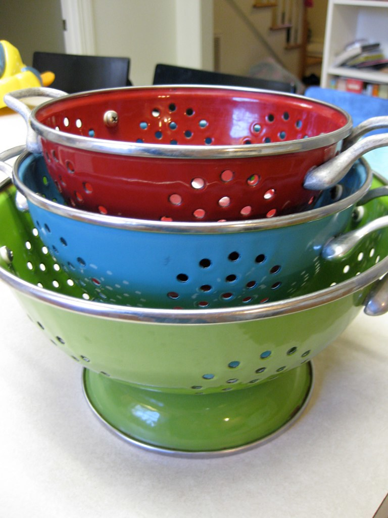 my colander collection.