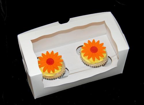 daisy cupcakes gift box