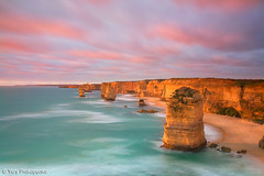 Sunset at Twelve Apostles (-yury-) Tags: ocean sunset sea australia victoria vic greatoceanroad twelve apostles