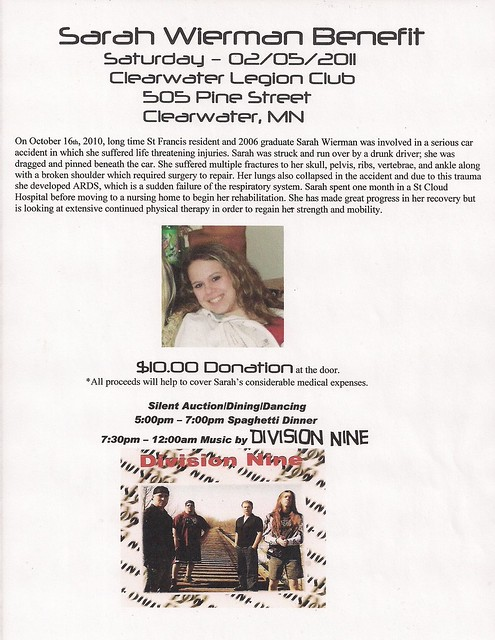 02/05/11 Sarah Wierman Benefit Flyer