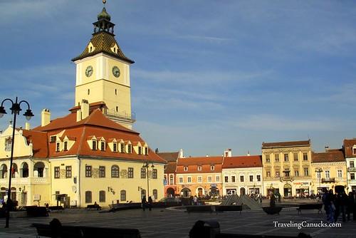 Brasov Square in Transylvania, Romania