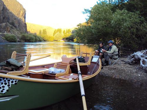 Fishing on Rio Limay, Rio Negro, Argentina