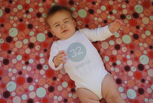 32 weeks onesie
