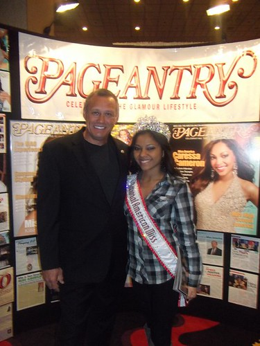 Lilly Rodriguez, NAM National Queen, with Pageantry Magazine Editor Carl Dunn