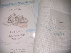15. Tatty Teddy birth sampler