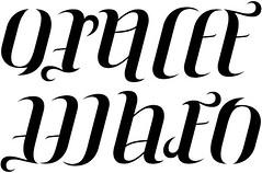 """""""Ora Lee"""" & """"When"""" Ambigram"""