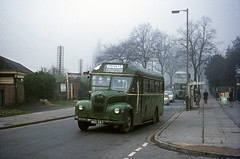 Ex-LT GS MXX357 and Kearseys ex-RTL by Cheltenham Spa Station 1970 (David Christie 14) Tags: bus gs cheltenham lt rtl kearseys