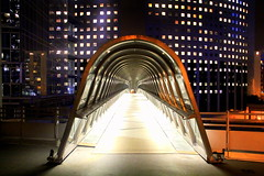 Inside out (Bernard l Hermite) Tags: city bridge paris france modern night buildings lights colours perspective rythme hbw furiste