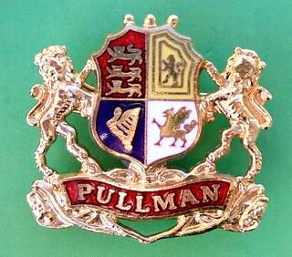 Pullman (UK) railway coach service - souvenir gift badge (1990's)