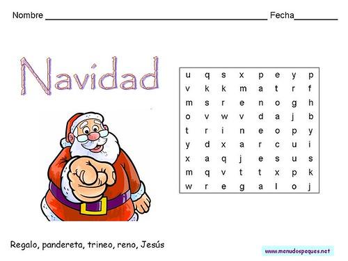ADVIENTO Y NAVIDAD: Sopa de letras: ¿Encontrarás las cinco palabras?