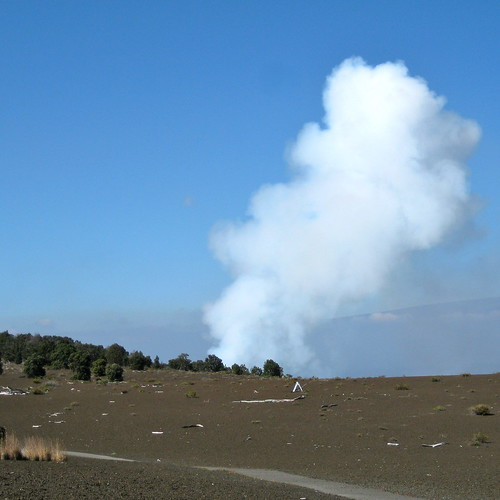 Plume of smoke from Halema'uma'u Crater