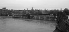 Posando en el Ro Sena (Buscando al Ratn Viajero) Tags: paris blancoynegro rio europa francia sena riosena posado lesiles