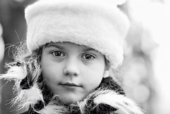 :) (geopalstudio) Tags: winter portrait smile hat kid eyes nikon bokeh coat sigma d60 8514