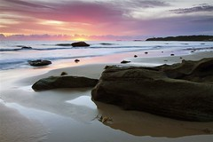 Sunrise at Jenny Dixon Beach 14 23rd January 2011. (madarchie0 - currently offline......) Tags: colour beach sunrise rocks jennydixonbeach centralcoastnsw