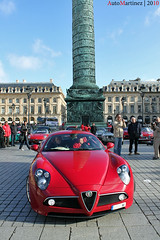 Alfa Romeo 8C Competizione - 100ans Alpha Paris (10-2010) (Automartinez) Tags: paris les canon de rouge eos place cent alfa romeo ans rues alban dans centenaire vendome 8c 500d joachin italienne competizione automartinez