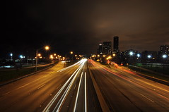 Lake Shore Drive Car Trails (Seth Oliver Photographic Art) Tags: chicago illinois nikon midwest nightlights skyscrapers cityscapes lakeshoredrive nightshots lighttrails chicagoatnight pinoy downtownchicago johnhancockbuilding cookcounty nightscapes chicagoskyline urbanscapes secondcity longexposures chicagoist cityskylines goldcoastneighborhood d90 nightexposures bigcities cityofchicago 5secondexposure cityofbigshoulders sooc nighttrails moderncities manualmodeexposure setholiver1 aperturef140 1024mmtamronuwalens ballheadtripodmountedshot timedelaytriggeredshot lightstarbursts