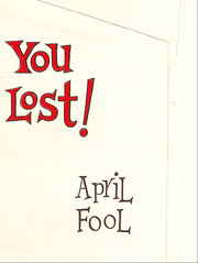 Inside the envelope (Huge Cool) Tags: vintage envelope lettering aprilfool youlost