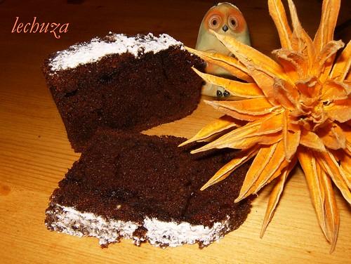 Cake de moras y choco-porción