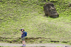 Hey! Me!.. Here! (Picardo2009) Tags: chile easterisland isladepascua ranoraraku rapanui volcan fotografa moai photographer ruinas ruins volcano viaje travel traveling stone statues carved picoftheday ancient civilization