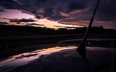 sundown (Florian Grundstein) Tags: sundown sunset reflection mirror trees forest vw golf car variant dachreling clouds dramatic skyscape olympus mft em1 omd light shadow gegenlicht 5