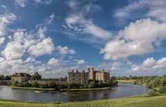 Leeds Castle revisted (James Waghorn) Tags: castle summer sigma1750f28exdcoshsm d7100 swan water clouds tree panorama kent wall leedscastle england tourist beautiful standing