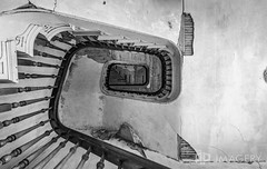 Looking Up (AP Imagery) Tags: abandoned joseph staircase community house historic blackandwhite monochrome hardinsburg judge ky holt bw kentucky days historical usa